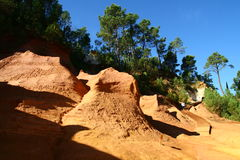 Ochre quarry. Near Roussilion in Provence France Royalty Free Stock Photography