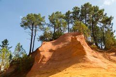 Ochre quarry, Rousillon, France Stock Image
