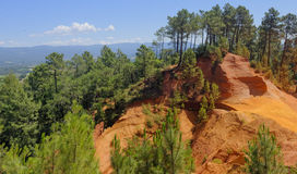 Ochre quarry of Roussillon Royalty Free Stock Photography