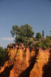 Ochre rocks in Roussillon Royalty Free Stock Image
