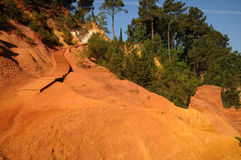 Ochre in Roussillon Stock Photo
