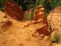 Ochre in Roussillon Stock Photography