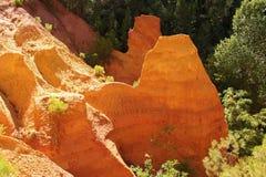 Ochre stone pit near Roussillion, Provence Royalty Free Stock Photography