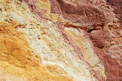 Ochre texture. A texture of changing colours at The Ochre Pit, West Macdonnell Ranges, Northern Territories, Australia Royalty Free Stock Image