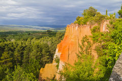 The ochres of Roussillon Stock Photo