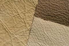 Ochri brown leather Royalty Free Stock Image