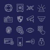 Ochron Kreskowe ikony Obraz Royalty Free