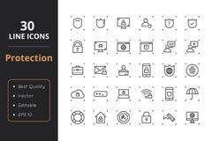 30 ochron Kreskowych ikon Zdjęcie Royalty Free