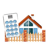 Ochrona alarm dla domu Obrazy Royalty Free