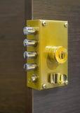 Ochrona drzwiowy kędziorek Fotografia Royalty Free