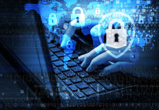Ochrona interneta pojęcie zdjęcia stock