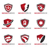 Ochrona logo - 9 stylowa czerwień i czerń tonują Obraz Royalty Free