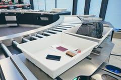 Ochrona lotniska czek zdjęcie stock