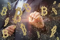 Ochrona na sieci bitcoins Obraz Stock