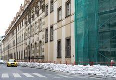 Ochrona od powodzi w Praga Zdjęcia Royalty Free