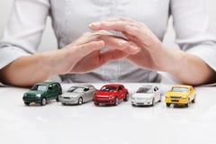 Ochrona samochody (pojęcie) Zdjęcia Royalty Free