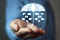 Ochrona twój email Biznes obrazy royalty free