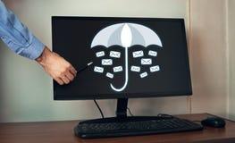 Ochrona twój email Biznes obraz stock