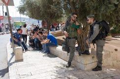 Ochrona w Jerozolima Obraz Royalty Free