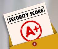 Ochrona wynika wykaz ocen A Plus Wielka Bezpiecznie Zbawcza ocena ilustracja wektor