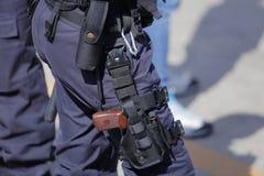 Ochrona zestaw funkcjonariusz policji zdjęcie stock