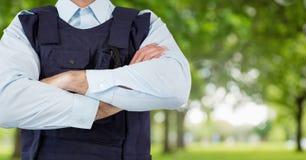 Ochroniarz outside w parku zdjęcia stock