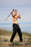Ochroniarz w piasku fotografia stock