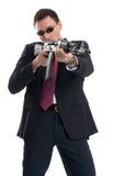 Ochroniarz z karabinem automatycznym obrazy stock