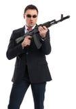 Ochroniarz z karabinem automatycznym obraz stock