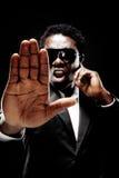 ochroniarza czarny mężczyzna Zdjęcia Royalty Free