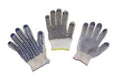 Ochronne rękawiczki dla maual pracy, odosobnione, z ścinek ścieżką zdjęcia royalty free