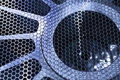 Ochronnej metal siatki przemysłowy fan Obrazy Royalty Free