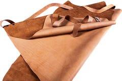 Ochronny brown fartuch obraz stock
