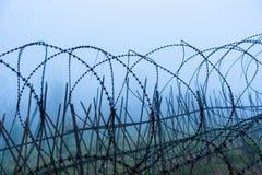 Ochronny fechtunka szczególnie ochraniający przedmiot drut kolczasty ST fotografia royalty free