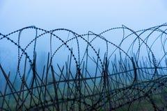 Ochronny fechtunka szczególnie ochraniający przedmiot drut kolczasty ST zdjęcia royalty free