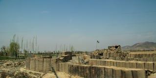 Ochrony baza w Gardez w Afganistan zdjęcie royalty free