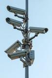 Ochrony cctv kamery zdjęcie stock