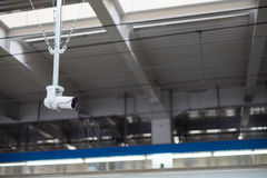 Ochrony CCTV monitoru nieodpowiedni zachowanie Obraz Stock
