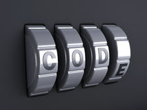 Ochrony hasła kombinacja 3d illlustration Obraz Royalty Free