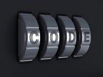 Ochrony hasła kombinacja 3d illlustration Fotografia Royalty Free