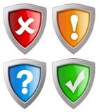 Ochrony ikona ilustracja wektor