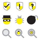 Ochrony ikony mieszkania ustalony styl Obraz Stock