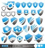 Ochrony osłona - symbole ikony i logowie, Zdjęcia Royalty Free