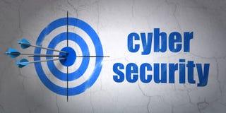 Ochrony pojęcie: celu i Cyber ochrona dalej Fotografia Stock