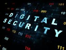 Ochrony pojęcie: Cyfrowej ochrona na Digital Zdjęcia Stock
