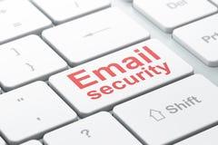 Ochrony pojęcie: Email ochrona na komputerze Obrazy Stock