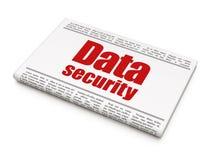 Ochrony pojęcie: nagłówków prasowych dane ochrona Obraz Stock