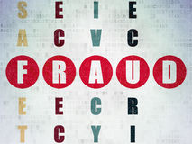 Ochrony pojęcie: słowa oszustwo w rozwiązywać Zdjęcie Stock