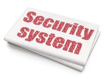 Ochrony pojęcie: System Bezpieczeństwa na Pustym Gazetowym tle Obraz Royalty Free