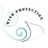 ochrony symbolu wiatr Obrazy Royalty Free